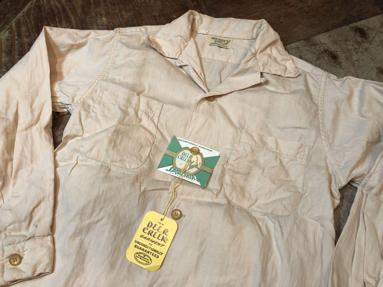5月18日(土)入荷!50s ワンウォッシュ Deer Creek  all cotton ボックス 開襟シャツ!_c0144020_13292309.jpg
