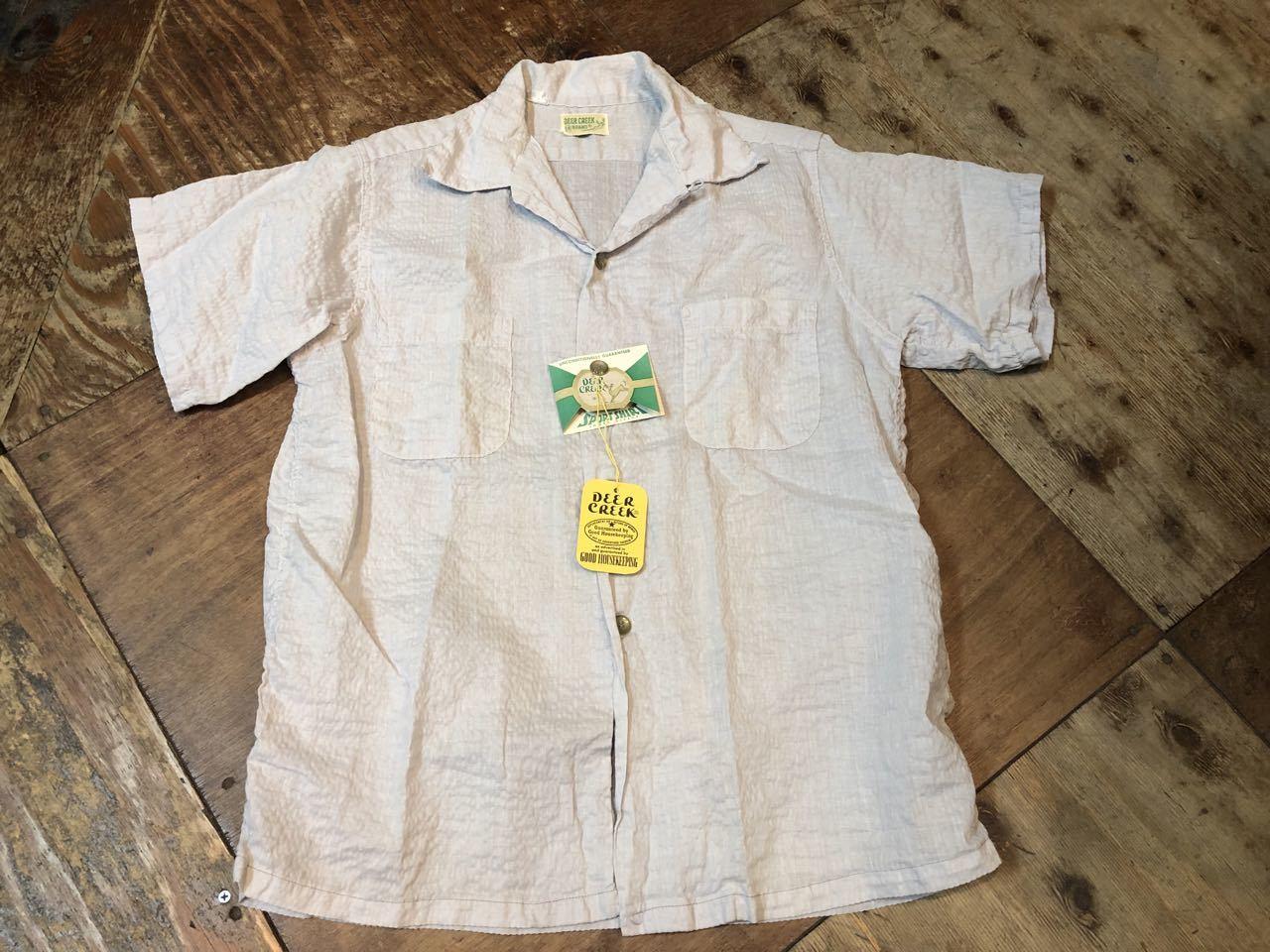 5月18日(土)入荷!ワンウォッシュ 50s Deer Creek シアサッカーシャツ!_c0144020_13325084.jpg