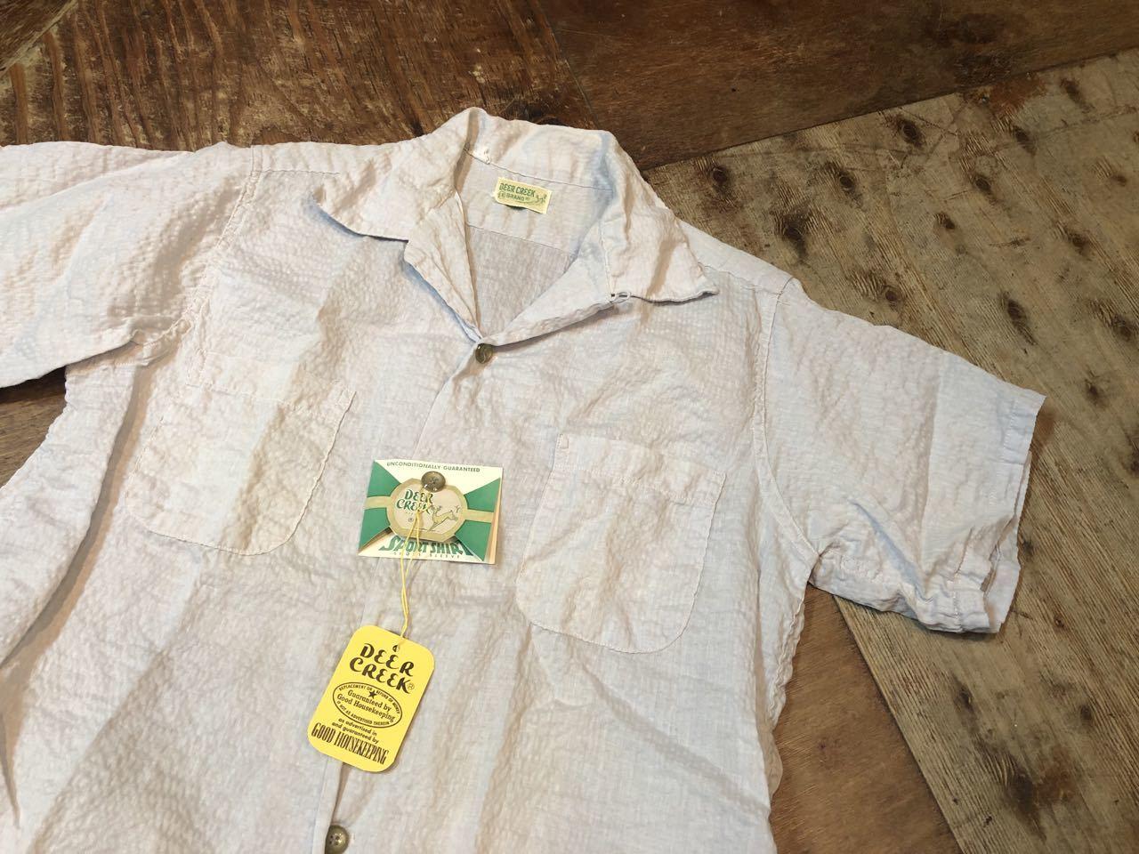 5月18日(土)入荷!ワンウォッシュ 50s Deer Creek シアサッカーシャツ!_c0144020_13330365.jpg