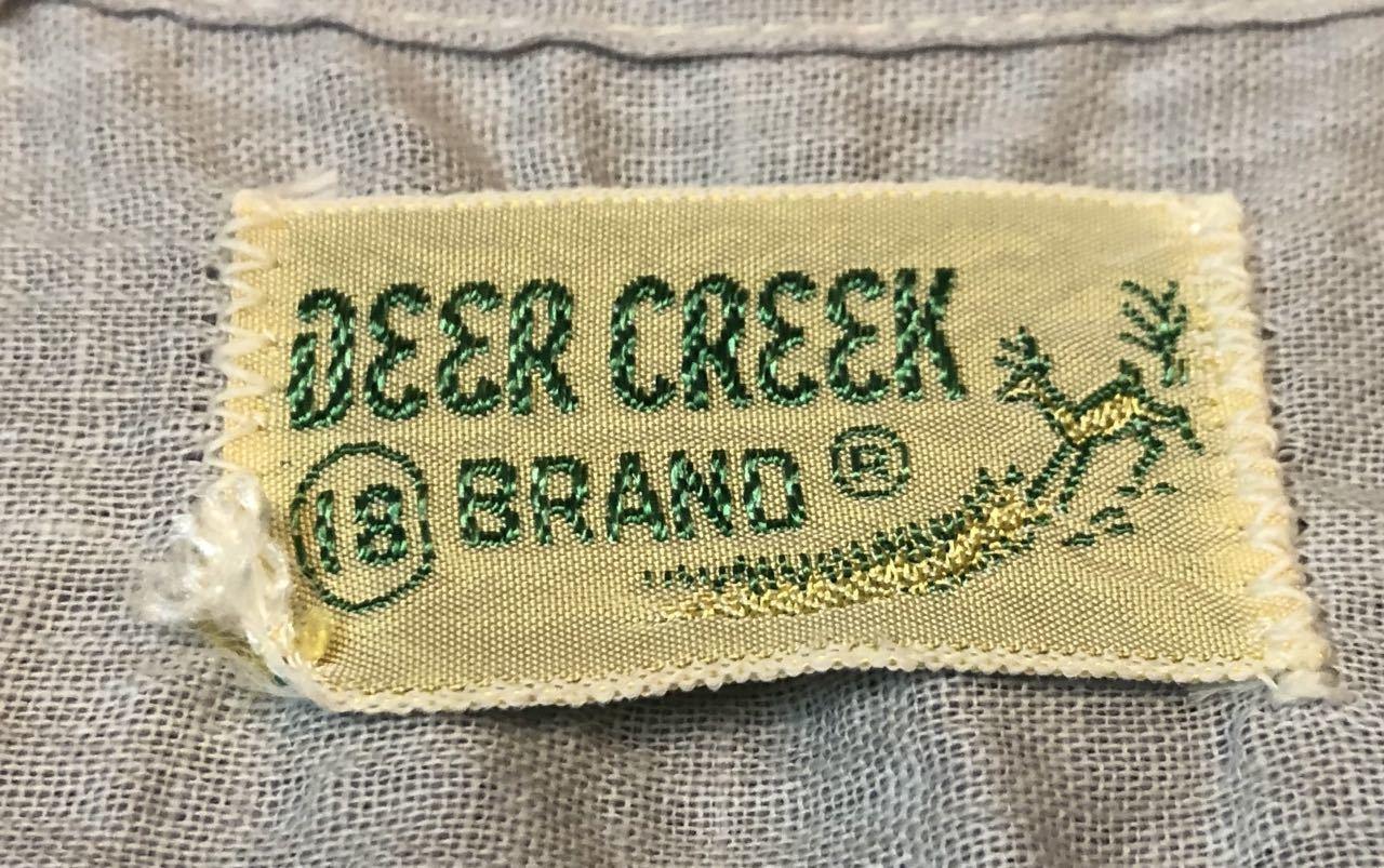 5月18日(土)入荷!ワンウォッシュ 50s Deer Creek シアサッカーシャツ!_c0144020_13331714.jpg