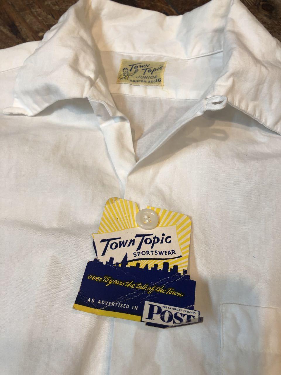 5月18日(土)入荷!50s TOWN TOPICS all cotton ボックス、開襟シャツ!_c0144020_13400571.jpg
