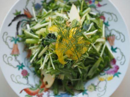 筍と青菜のサラダ_e0148373_22043345.jpg