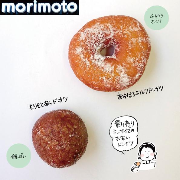 【千歳】morimotoのドーナツ2種【ミニサイズ】_d0272182_18542077.jpg