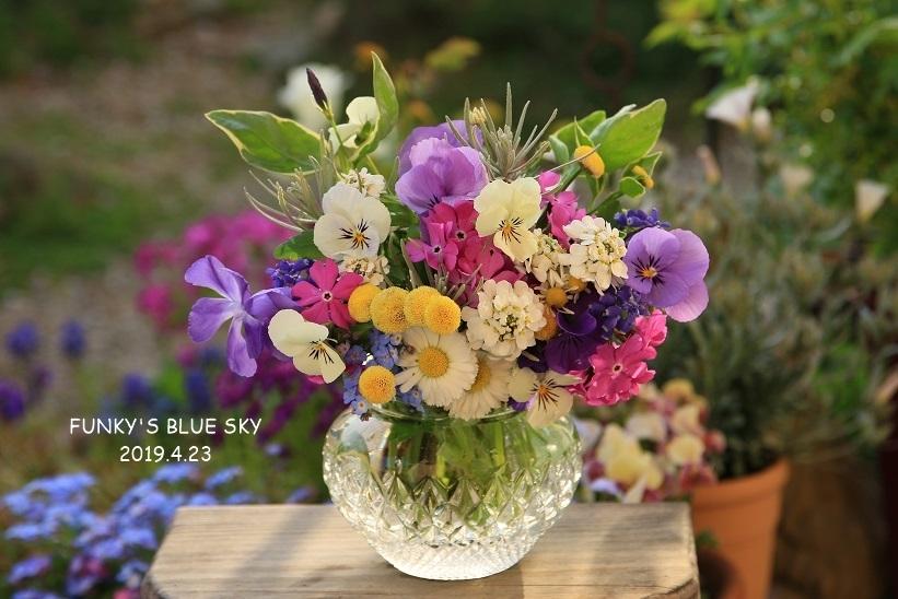 庭の小さなブーケ** (4月23日・28日)_c0145250_09415515.jpg