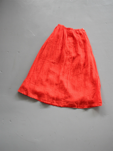 Ordinary fits TRAVEL SKIRT linen / RED_b0139281_12413777.jpg