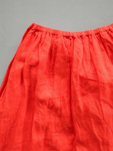 Ordinary fits TRAVEL SKIRT linen / RED_b0139281_1242761.jpg