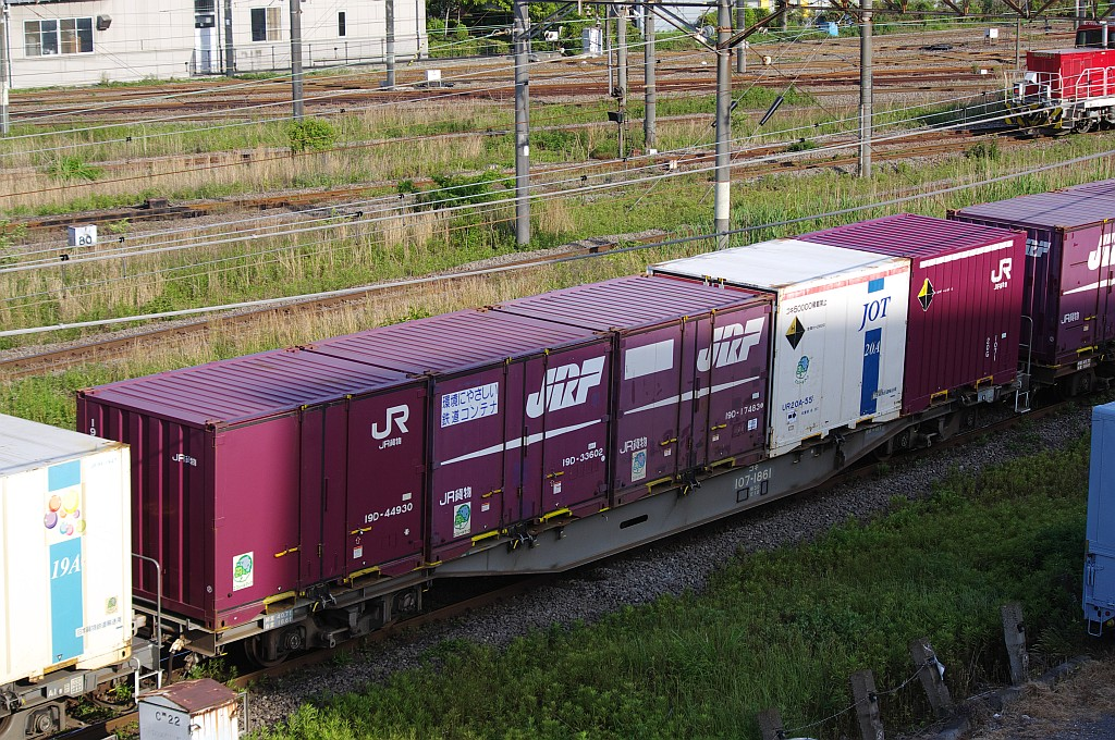 5/18東京貨物ターミナルにて2062レのコキとコンテナ_f0203926_2243064.jpg