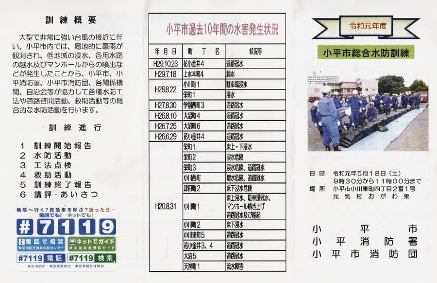 小平市総合水防訓練_f0059673_21073247.jpg