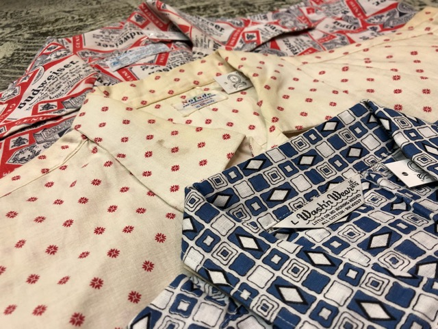 5月22日(水)マグネッツ大阪店ヴィンテージ入荷日!! #4 VintageShirt編! 50\'s Mobile Print & 50\'s GENERAL ELECTRIC!!_c0078587_14395039.jpg