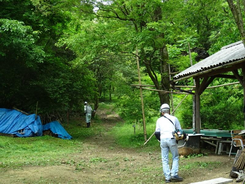 広場周辺の草刈り・・・孝子の森_c0108460_18345027.jpg