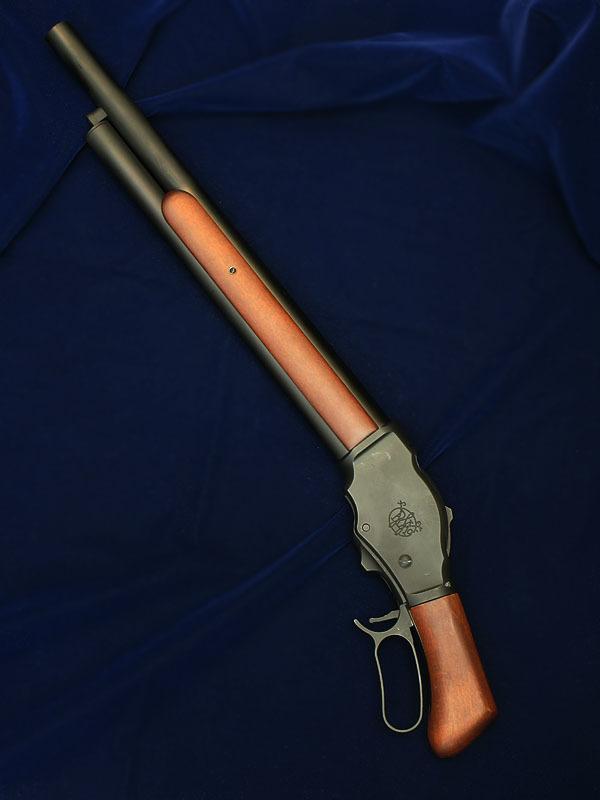 S&T ウィンチェスター M1887 ガスショットガン ソードオフ リアルウッド(ライブカート・排莢式)_f0131995_15591612.jpg