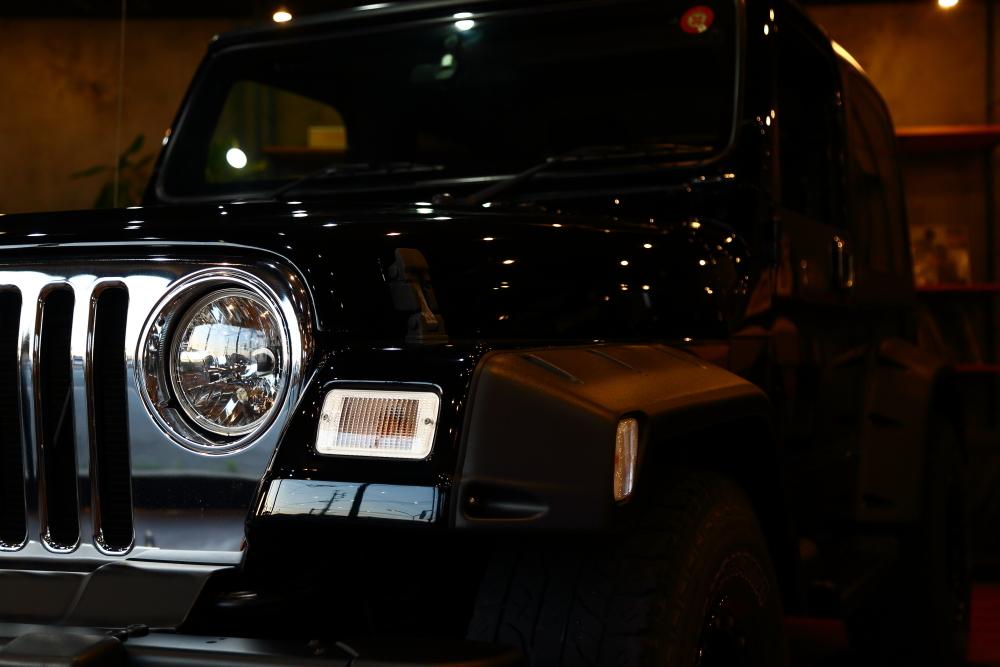 ご納車のブラックTJ仕上げ作業進行中です_f0105425_19065374.jpg