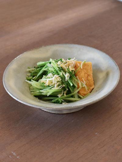 水菜と厚揚げのたいたん_e0130536_15392102.jpg