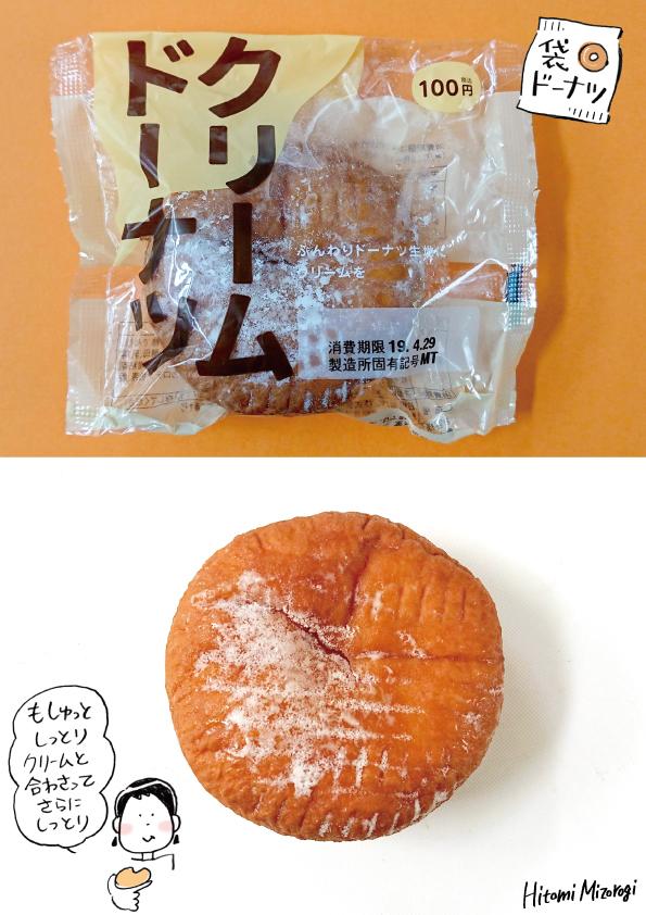 【袋ドーナツ】日糧製パン「クリームドーナツ」【しっとりもちもち】_d0272182_16202838.jpg