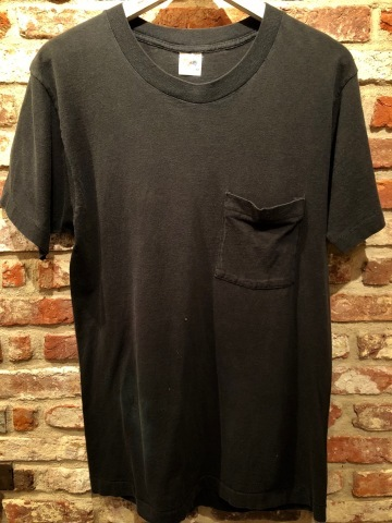 "1980s "" FRUIT OF THE LOOM \"" 100% cotton - BLACK - VINTAGE POCKET Tee SHIRTS × 4P - WHITE - × 4P ._d0172088_17541413.jpg"