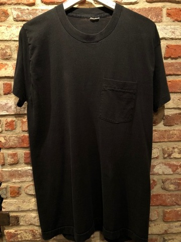 "1980s "" FRUIT OF THE LOOM \"" 100% cotton - BLACK - VINTAGE POCKET Tee SHIRTS × 4P - WHITE - × 4P ._d0172088_17572023.jpg"