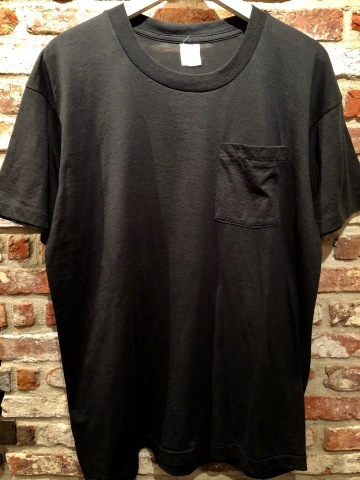 "1980s "" FRUIT OF THE LOOM \"" 100% cotton - BLACK - VINTAGE POCKET Tee SHIRTS × 4P - WHITE - × 4P ._d0172088_18010890.jpg"