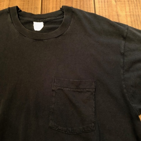 "1980s "" FRUIT OF THE LOOM \"" 100% cotton - BLACK - VINTAGE POCKET Tee SHIRTS × 4P - WHITE - × 4P ._d0172088_18034151.jpg"
