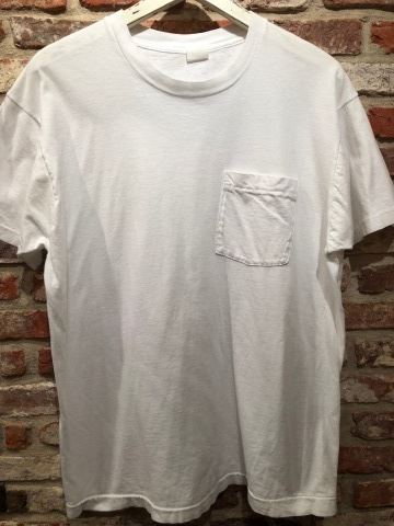 "1980s "" FRUIT OF THE LOOM \"" 100% cotton - BLACK - VINTAGE POCKET Tee SHIRTS × 4P - WHITE - × 4P ._d0172088_18260608.jpg"