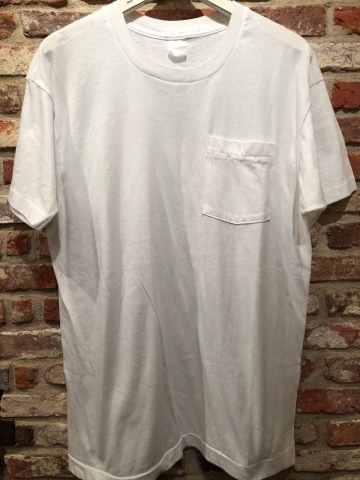 "1980s "" FRUIT OF THE LOOM \"" 100% cotton - BLACK - VINTAGE POCKET Tee SHIRTS × 4P - WHITE - × 4P ._d0172088_18285579.jpg"