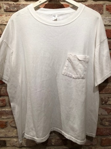 "1980s "" FRUIT OF THE LOOM \"" 100% cotton - BLACK - VINTAGE POCKET Tee SHIRTS × 4P - WHITE - × 4P ._d0172088_18335646.jpg"