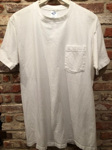 "1980s "" FRUIT OF THE LOOM \"" 100% cotton - BLACK - VINTAGE POCKET Tee SHIRTS × 4P - WHITE - × 4P ._d0172088_18371823.jpg"