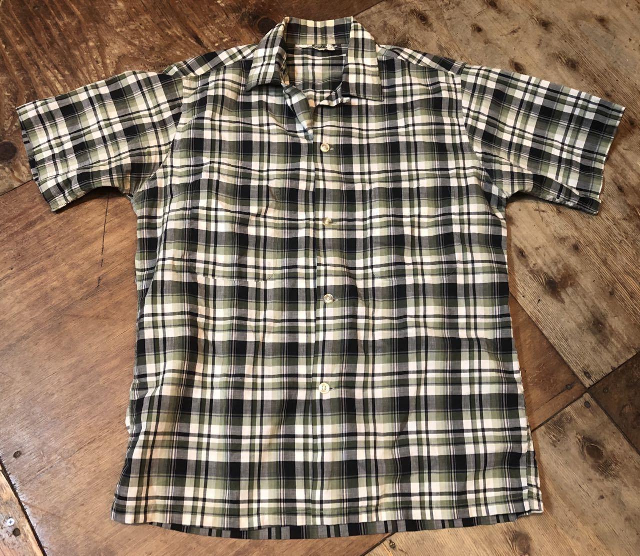 5月25日(土)入荷!60s Penny\'s  all cotton ボックス オープンカラーシャツ!_c0144020_13565887.jpg