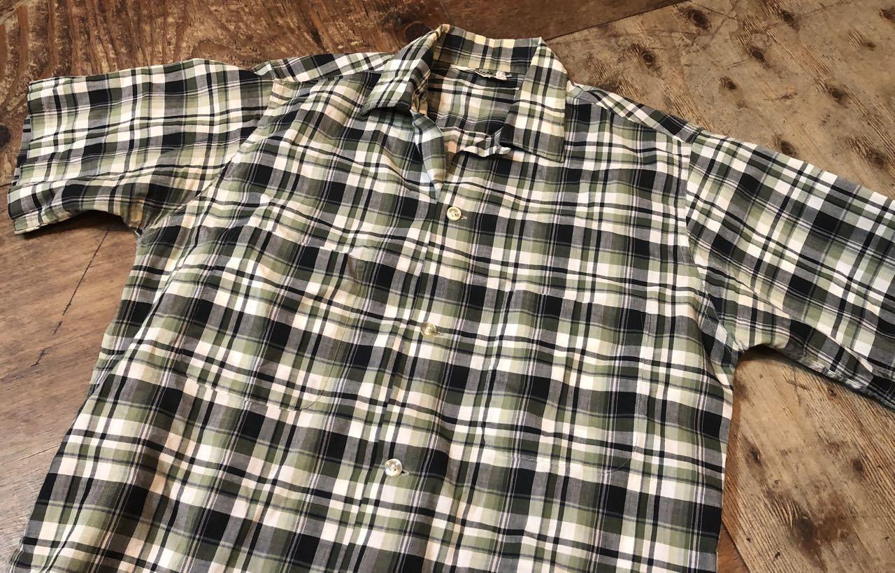 5月25日(土)入荷!60s Penny\'s  all cotton ボックス オープンカラーシャツ!_c0144020_13570115.jpg