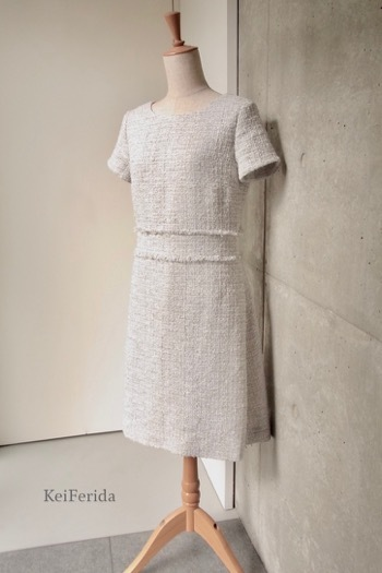 CHANEL tweed gray dress_b0204879_12374045.jpg