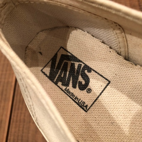 "Early 1990s "" VANS - Made in U.S.A - \"" - AUTHENTIC - CANVAS - Good conditions - ._d0172088_19044444.jpg"