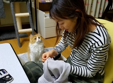 YUKIとヴィヴィアン お裁縫の時間♪_c0151053_17350240.jpg
