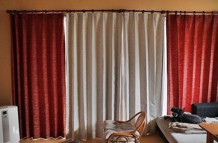 夏用のカーテンに替えました。_b0111376_16100114.jpg