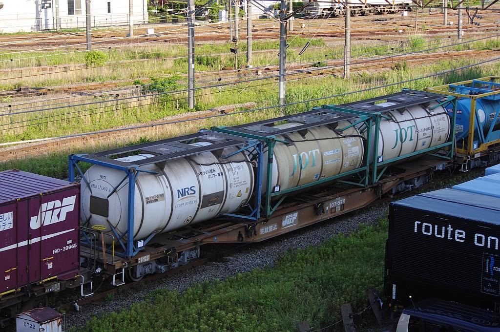 5/25東京貨物ターミナルにてSGS60レのコキとコンテナ_f0203926_23532648.jpg