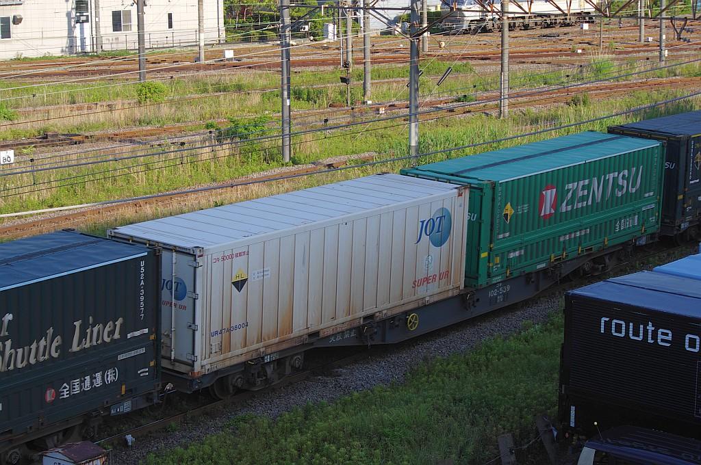 5/25東京貨物ターミナルにてSGS60レのコキとコンテナ_f0203926_23541468.jpg
