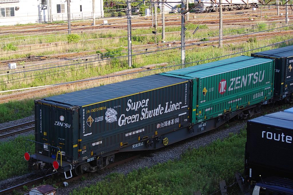 5/25東京貨物ターミナルにてSGS60レのコキとコンテナ_f0203926_23563449.jpg