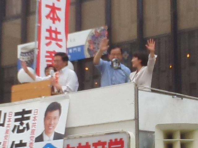 🌞 配達 ✋ ポスターのお願い 🌝 日本共産党街頭演説会in神戸元町 🌞_f0061067_23115365.jpg