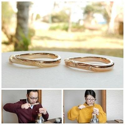 波をモチーフにした結婚指輪 オーダーメイド | 岡山_d0237570_15463955.jpg