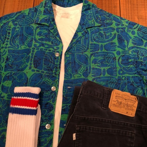 "1950s "" Mc GREGOR \"" ALL COTTON - トーテムポール柄 - VINTAGE S/S PRINT SHIRTS ._d0172088_18064801.jpg"