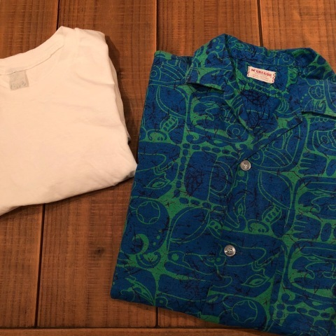 "1950s "" Mc GREGOR \"" ALL COTTON - トーテムポール柄 - VINTAGE S/S PRINT SHIRTS ._d0172088_18124248.jpg"