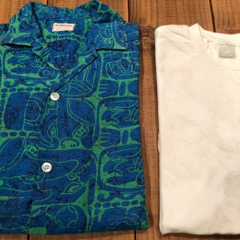 "1950s "" Mc GREGOR \"" ALL COTTON - トーテムポール柄 - VINTAGE S/S PRINT SHIRTS ._d0172088_18200311.jpg"