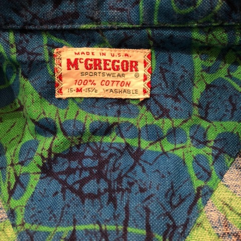 "1950s "" Mc GREGOR \"" ALL COTTON - トーテムポール柄 - VINTAGE S/S PRINT SHIRTS ._d0172088_18212922.jpg"