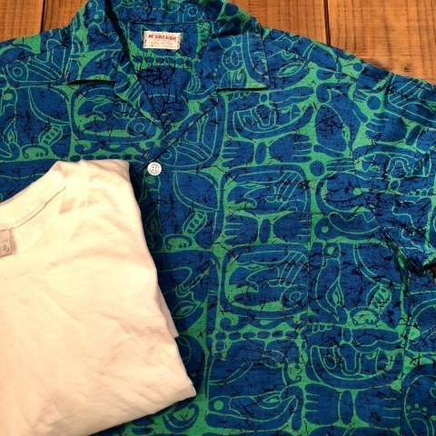 "1950s "" Mc GREGOR \"" ALL COTTON - トーテムポール柄 - VINTAGE S/S PRINT SHIRTS ._d0172088_18340393.jpg"