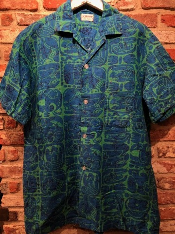 "1950s "" Mc GREGOR \"" ALL COTTON - トーテムポール柄 - VINTAGE S/S PRINT SHIRTS ._d0172088_18441633.jpg"