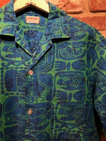 "1950s "" Mc GREGOR \"" ALL COTTON - トーテムポール柄 - VINTAGE S/S PRINT SHIRTS ._d0172088_18444107.jpg"