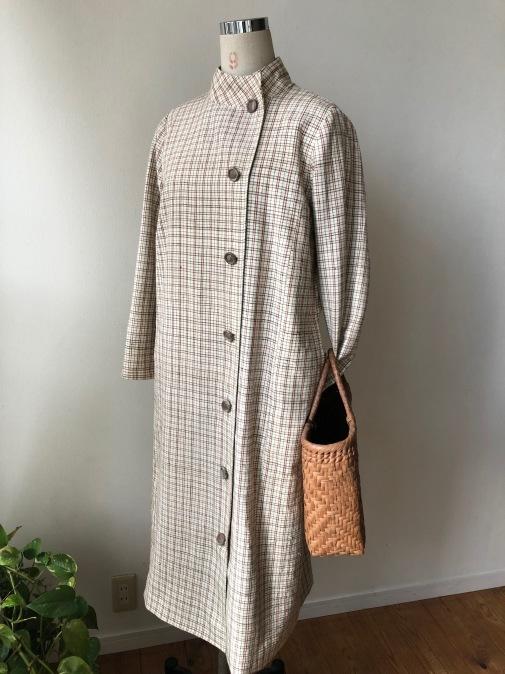 着物リメイク・木綿のお着物からレトロコートワンピ_d0127925_21433728.jpg