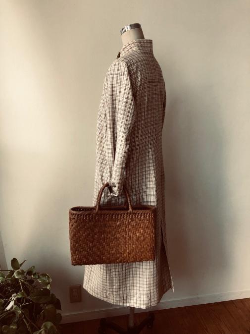 着物リメイク・木綿のお着物からレトロコートワンピ_d0127925_21434145.jpg