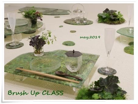 ガラスの器で初夏のテーブル -松山美恵さんの器を使って ~ブラッシュアップクラス_d0217944_22482981.jpg