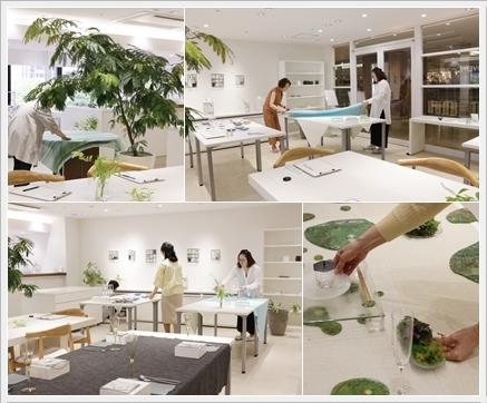 ガラスの器で初夏のテーブル -松山美恵さんの器を使って ~ブラッシュアップクラス_d0217944_22540881.jpg