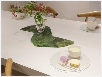 ガラスの器で初夏のテーブル -松山美恵さんの器を使って ~ブラッシュアップクラス_d0217944_23342359.jpg