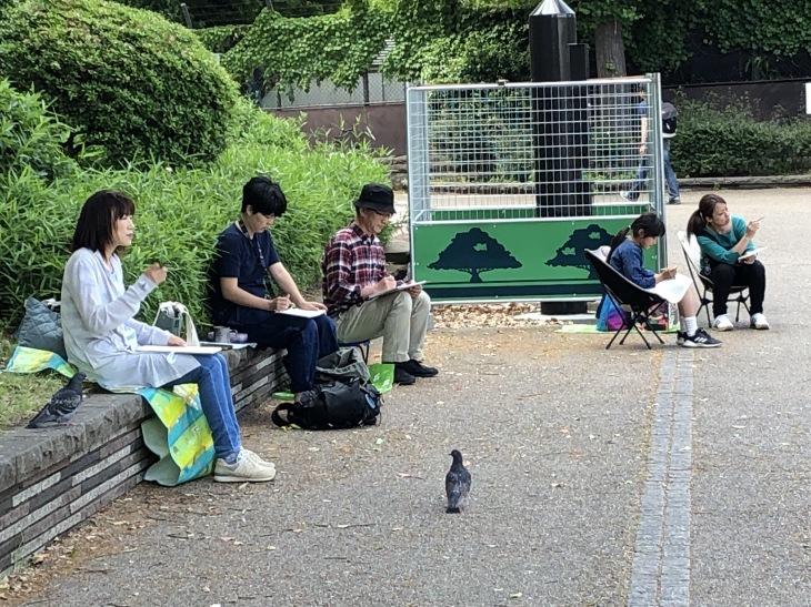 上野不忍池スケッチ会の模様〜その1〜❗️_c0131063_10384092.jpg